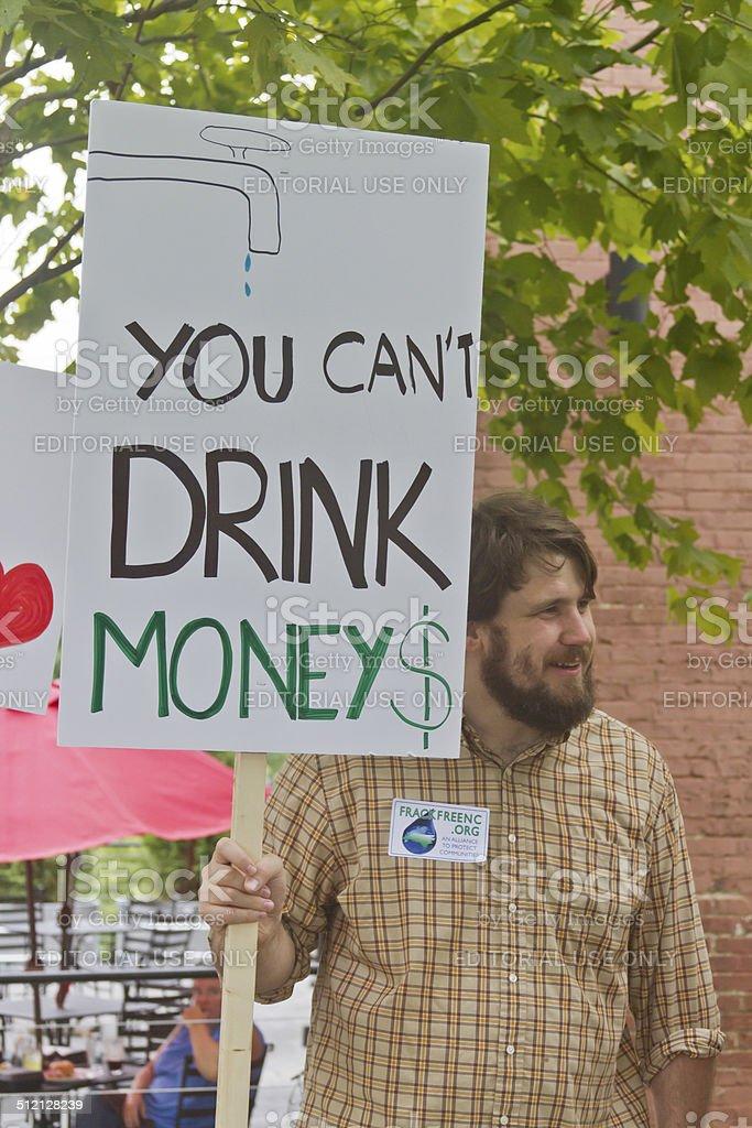 Moral Monday Fracking Sign stock photo