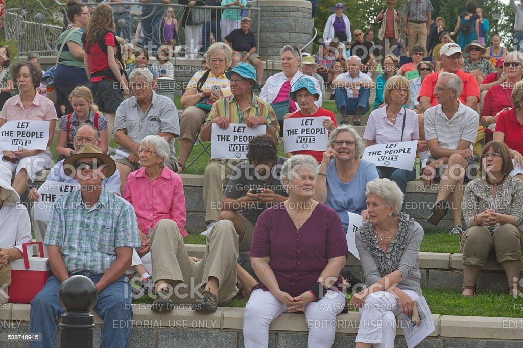 Moral Monday, Let The People Vote stock photo