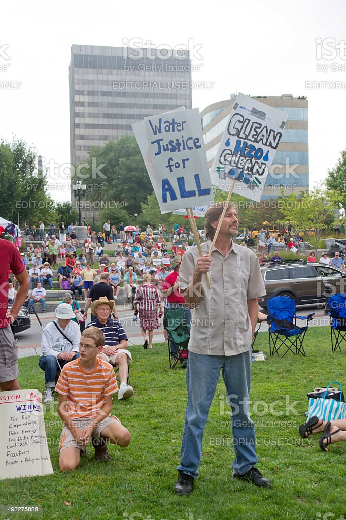 Moral Monday Protest Rally in Asheville stock photo