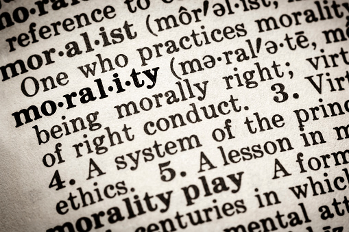 Morality Dictionary Definition Stock Photo - Download Image