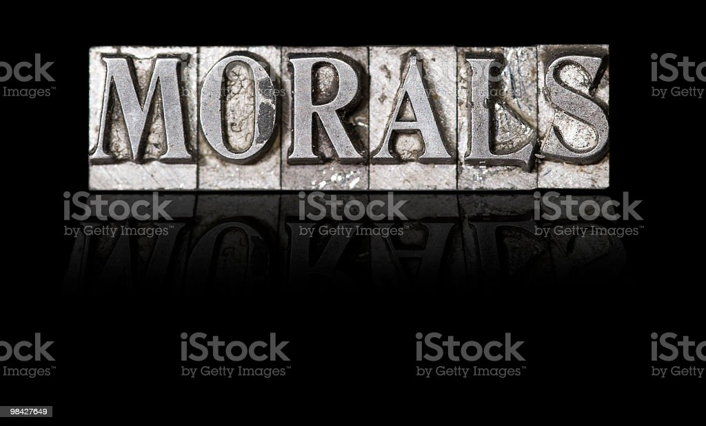 Morals royalty-free stock photo