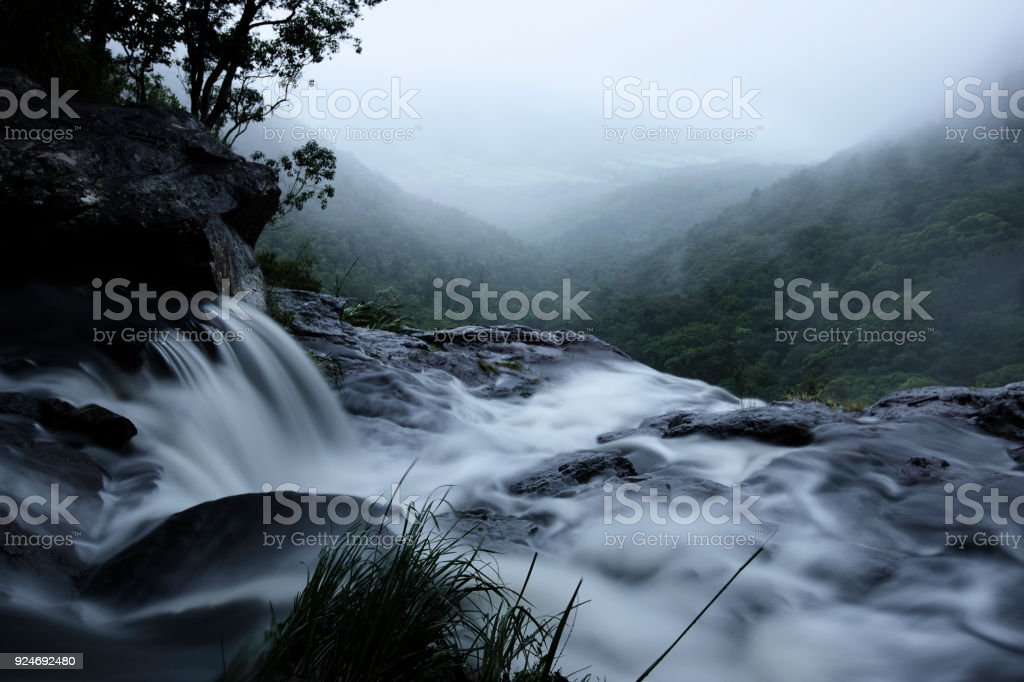 Morans Falls in Tamborine Mountains. stock photo