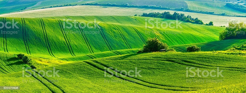 Moravian rolling landscape stock photo