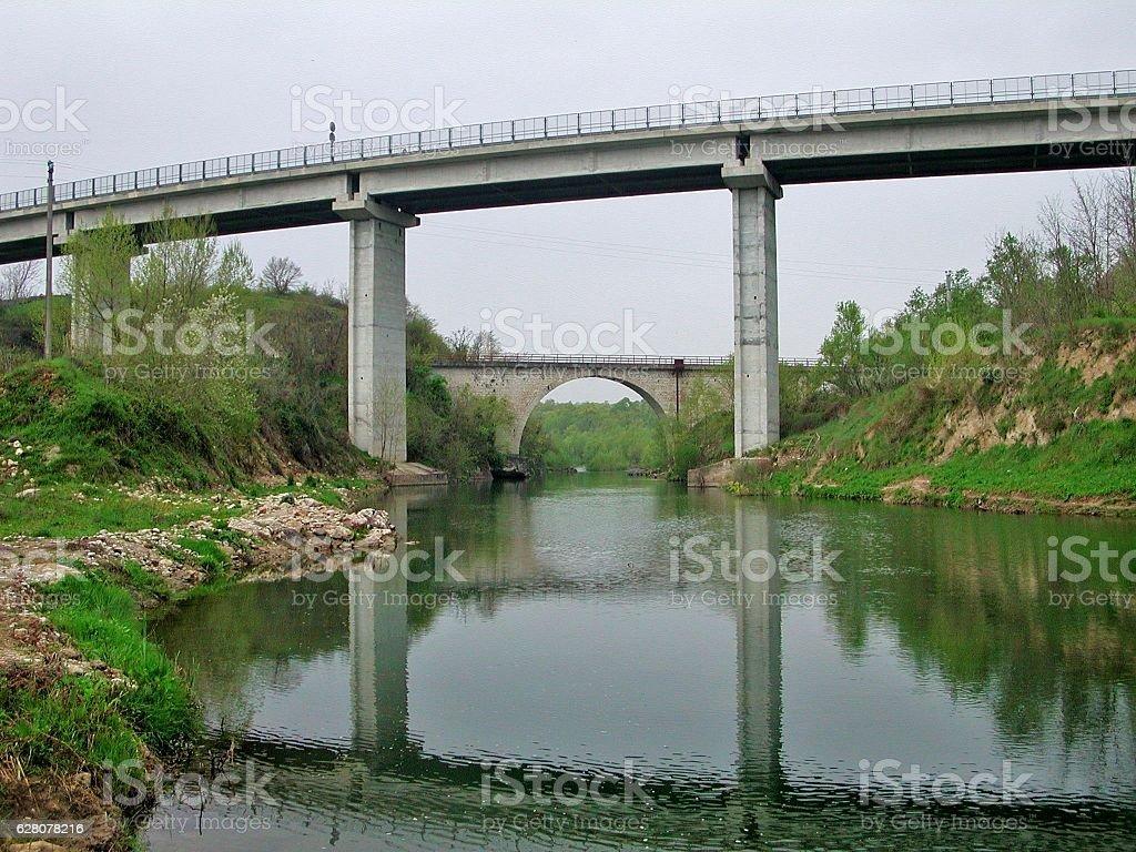 Morcone - Ponte Pescosardo - foto stock