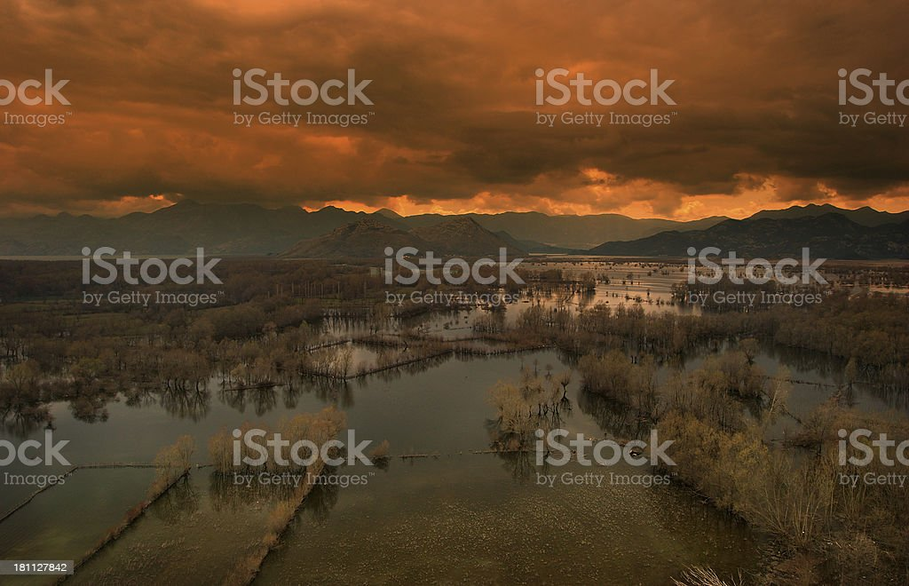 Mordor... the Land of Shadow royalty-free stock photo