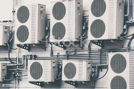 939450782istockphoto More Air conditioning system (Coil air heater) assembled on side of a building.Thailand 817236074