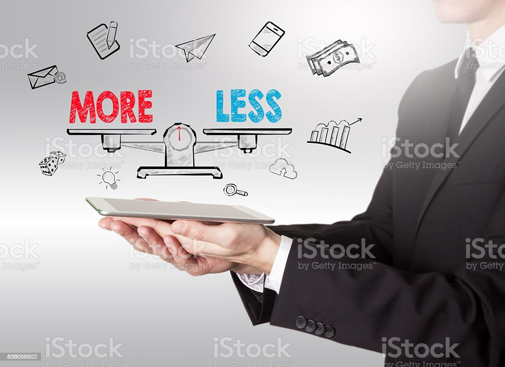 More and Less balance – Foto