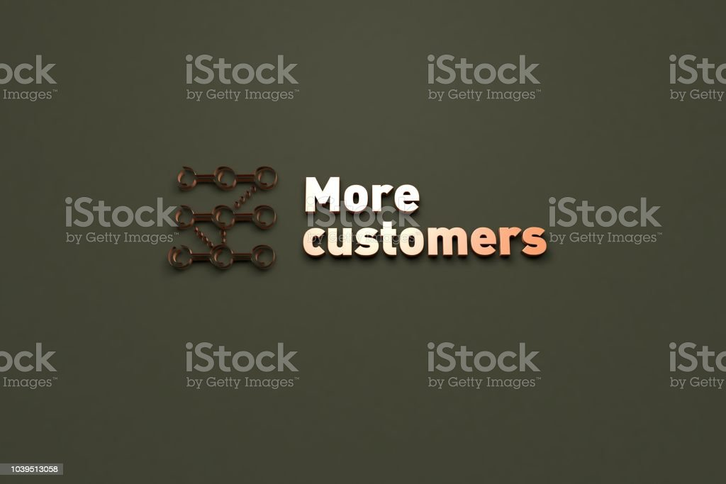 More customers stock photo