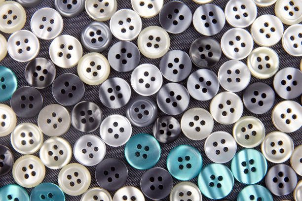 more different mother of pearl buttons stock photo