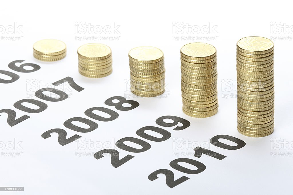 More growth in 2010 royalty-free stock photo
