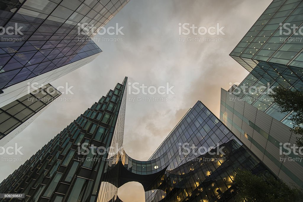 More London Place Offices - Sunset stock photo