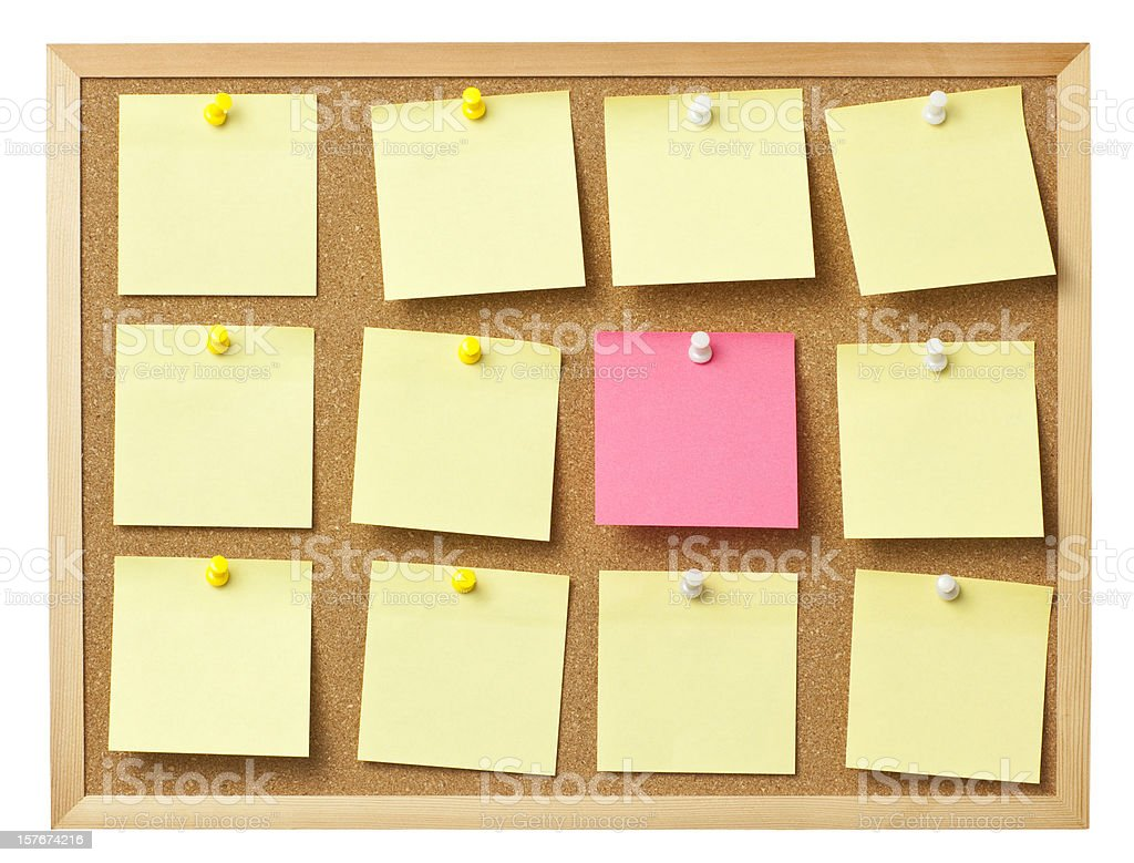 More noticeable memo paper than others. royalty-free stock photo