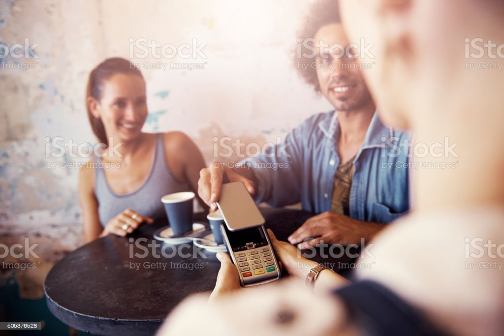 More options of payment thanks to technology stock photo