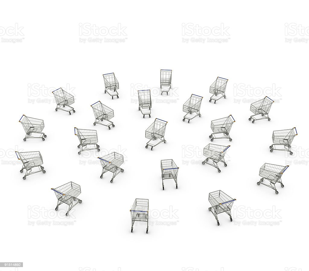 More shopping carts than ever! royalty-free stock photo