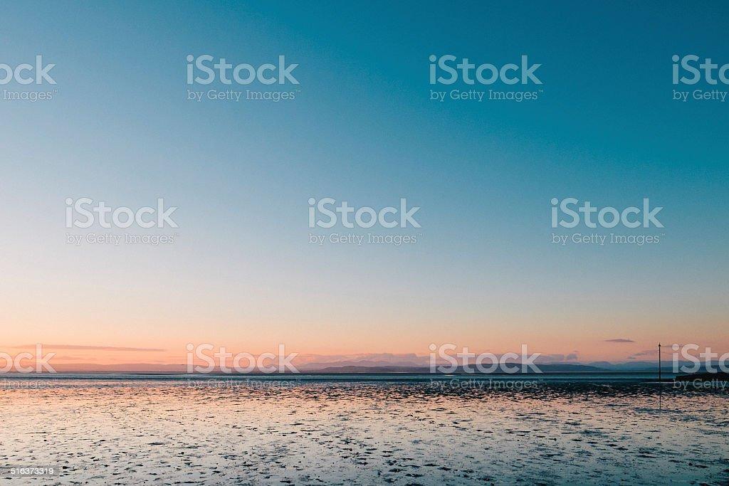 Morecambe Bay at low tide stock photo
