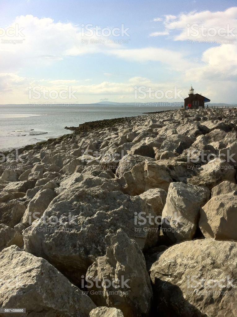Morecambe Stone Jetty stock photo