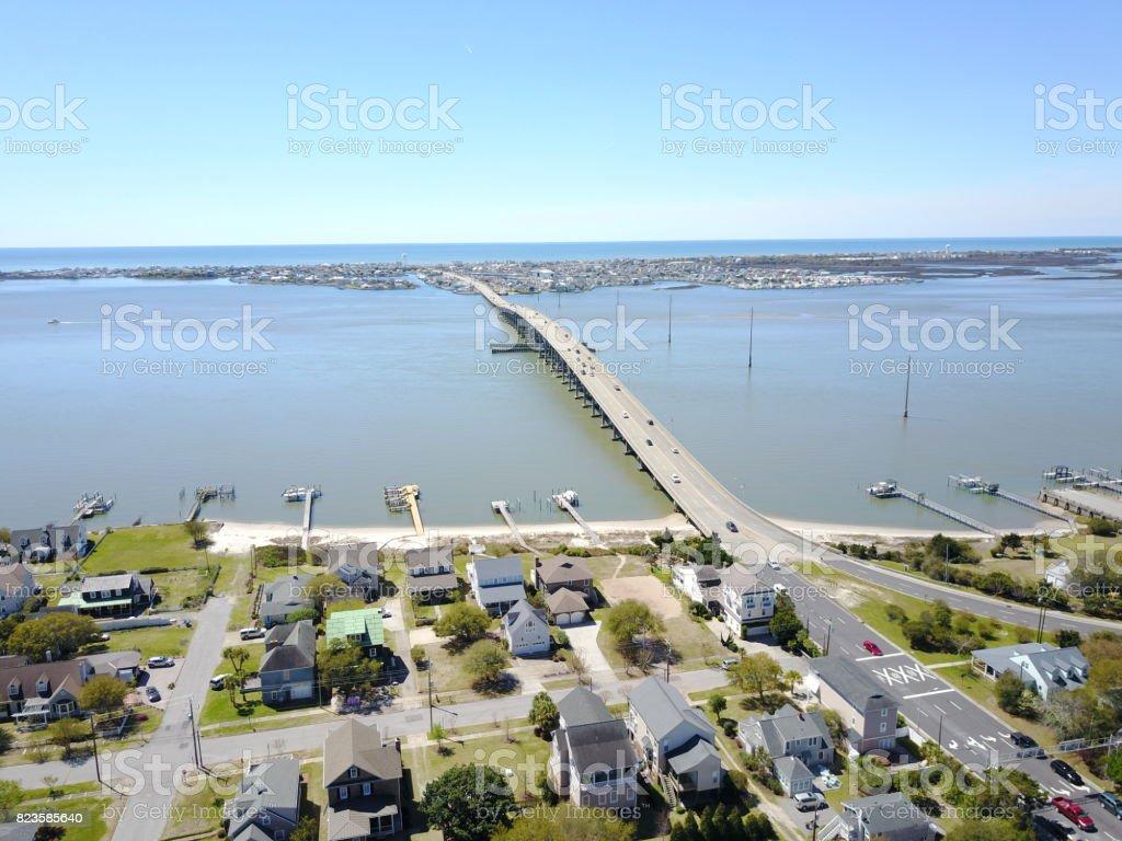 Morehead City to AB bridge stock photo