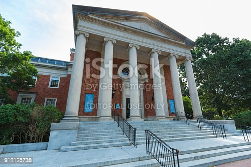 Morehead Planetarium at the University of North Carolina at Chapel Hill in Chapel Hill, North Carolina.  Built in 1949.