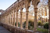 Morella San Francisco Convent cloister in Maestrazgo of Castellon Spain