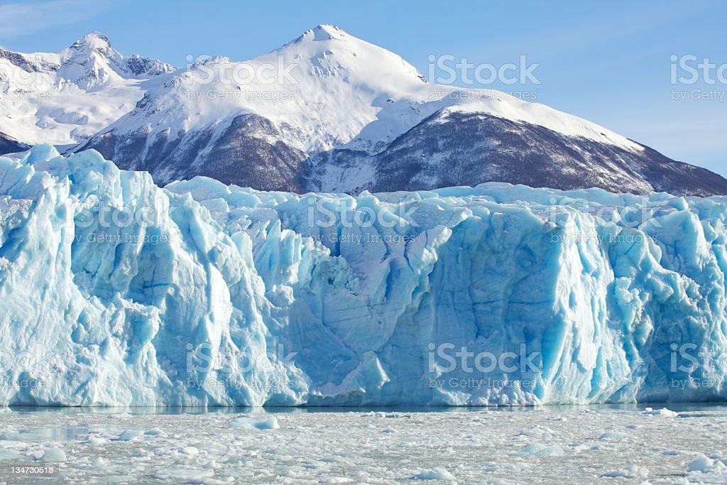 Moreno Glacier & Mountain Range royalty-free stock photo