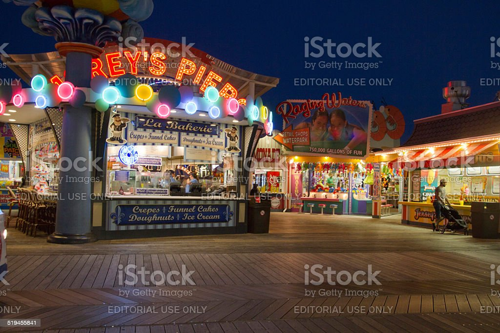 Morey's Piers on the Wildwood Boardwalk stock photo