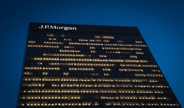 JP Morgan, Canary Wharf, Londres - foto de stock