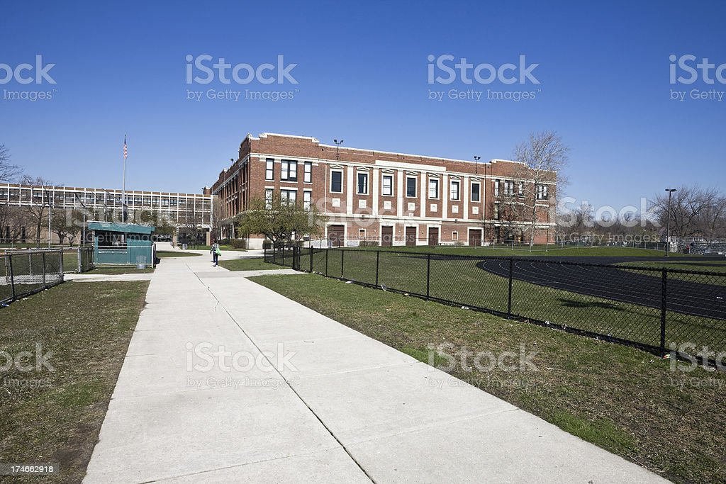Morgan Park High School in Chicago royalty-free stock photo