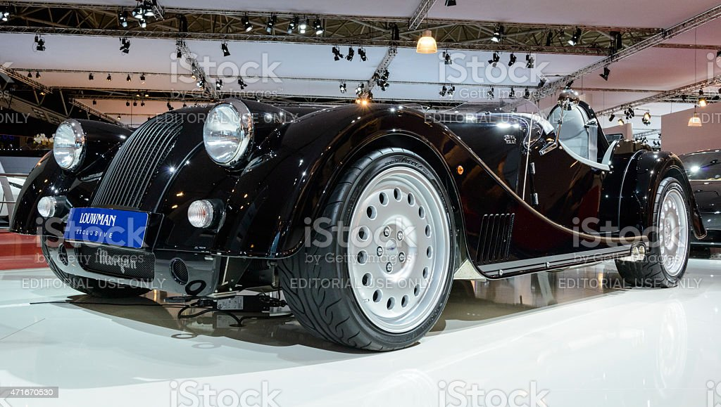 Morgan Plus 8 Speedster retro sports car stock photo