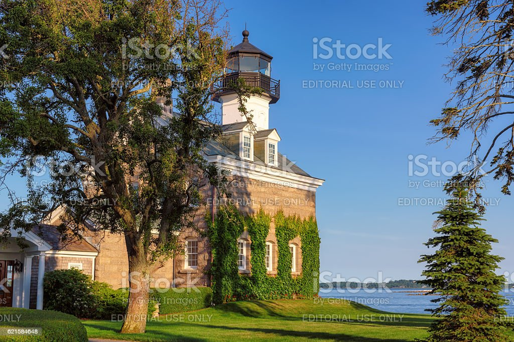 Morgan Point Lighthouse, Connecticut, USA stock photo