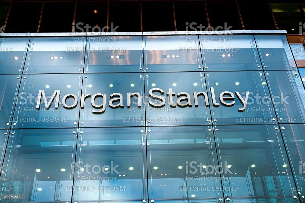 Morgan Stanley europäischer Firmenhauptsitze, London, GB - Lizenzfrei Außenaufnahme von Gebäuden Stock-Foto