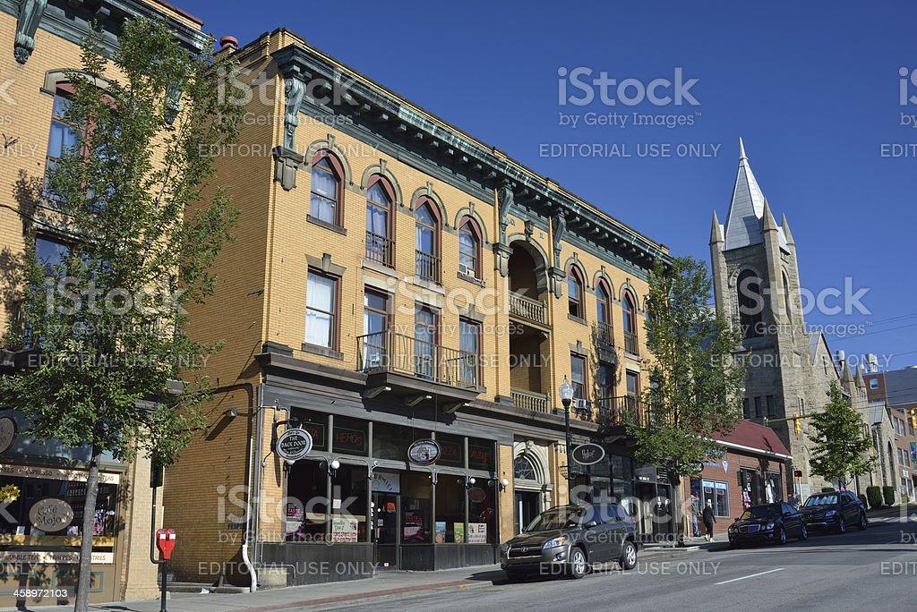 Morgantown of West Virginia stock photo
