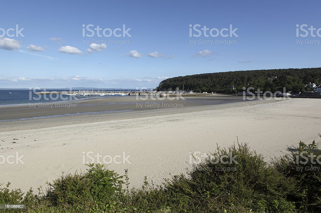 Morgat beach in Brittany, France stock photo