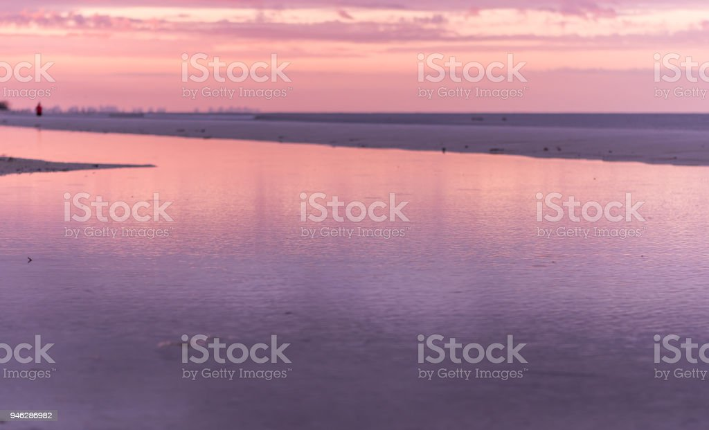 Moring Light at Low Tide stock photo
