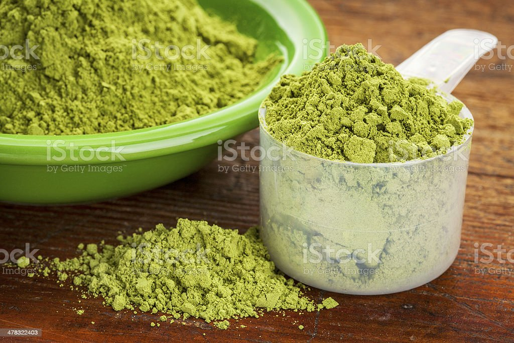 moringa leaf powder stock photo