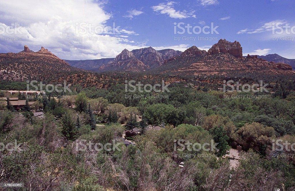 Mormon Canyon Oak Creek and State Route 89A Sedona Arizona stock photo