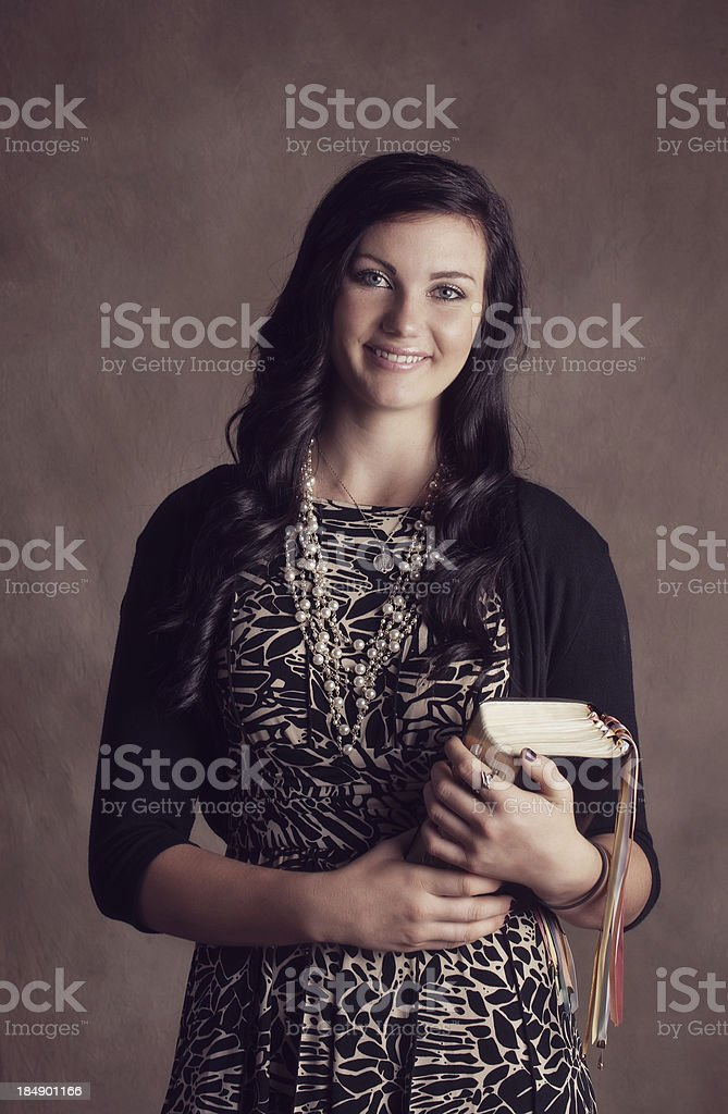 Mormon Missionary Girl stock photo
