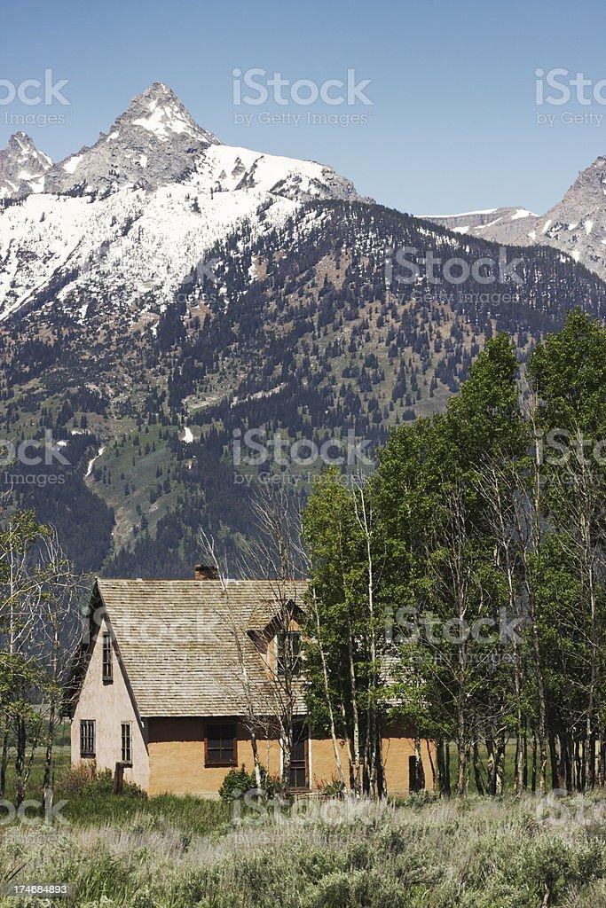 Mormon Row Grand Teton Mountain Homestead stock photo