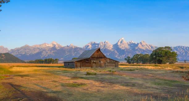 Mormon Row Historic District, Grand Teton stock photo