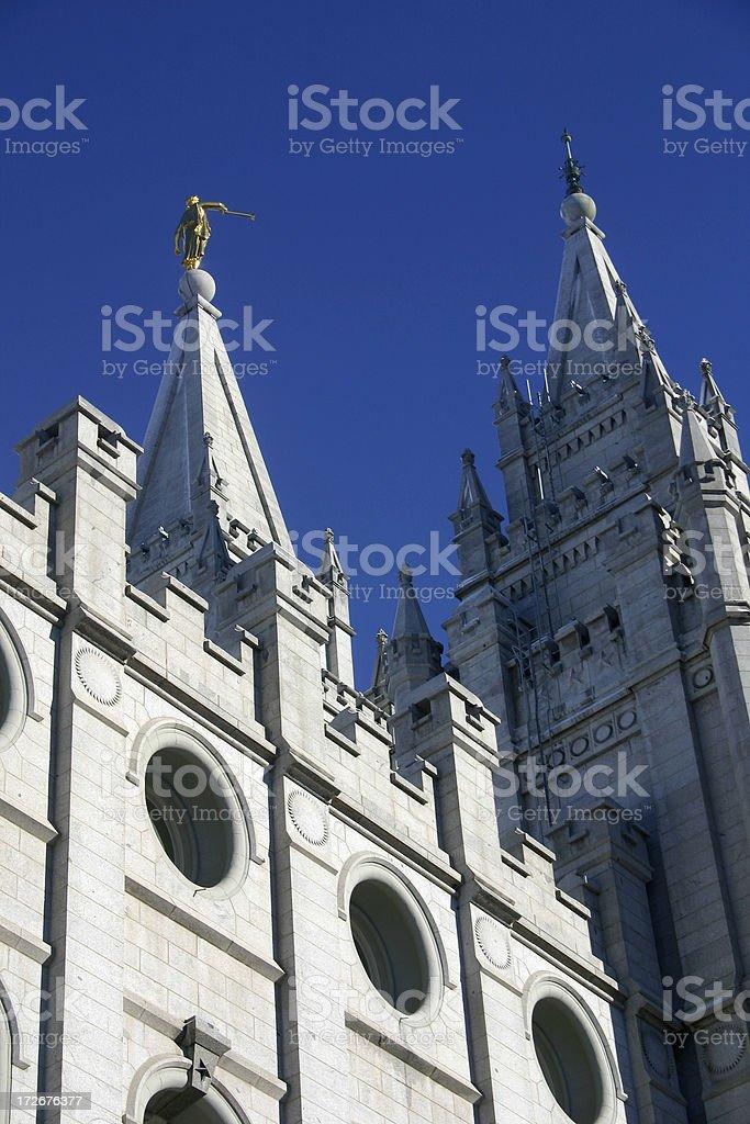 Mormon Temple in Salt Lake City stock photo