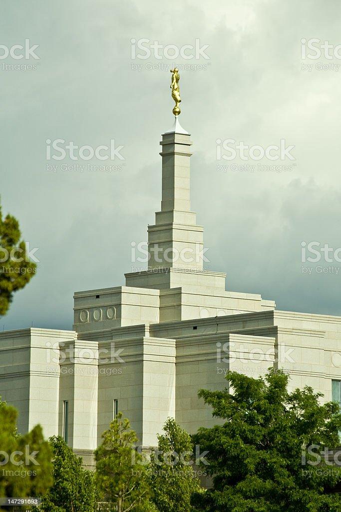Mormon Temple in Snowflake Arizona stock photo