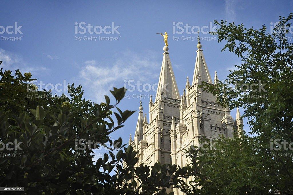 Mormon Temple (Salt Lake City) stock photo