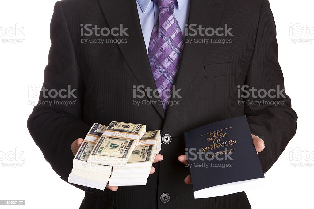 Mormons and corruption royalty-free stock photo