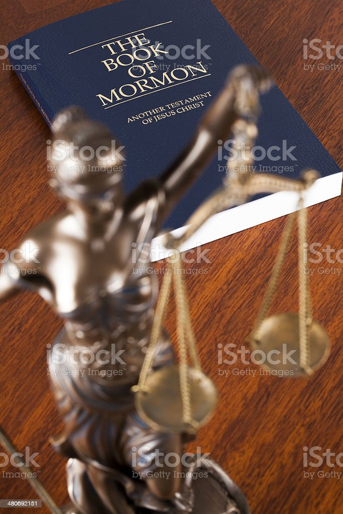 Mormons and justice stock photo