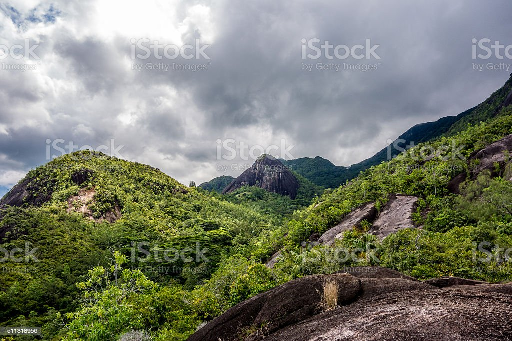 Morne Seychellois National Park - Mahe - Seychelles stock photo