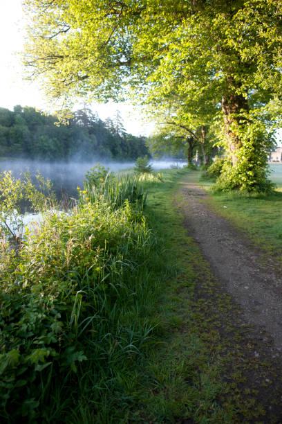 Mornincg Footpath, River Cong, ounty Galway, Ireland stock photo