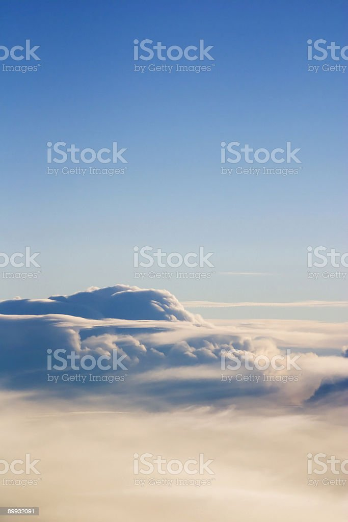 Morning Aerial Clouds stock photo