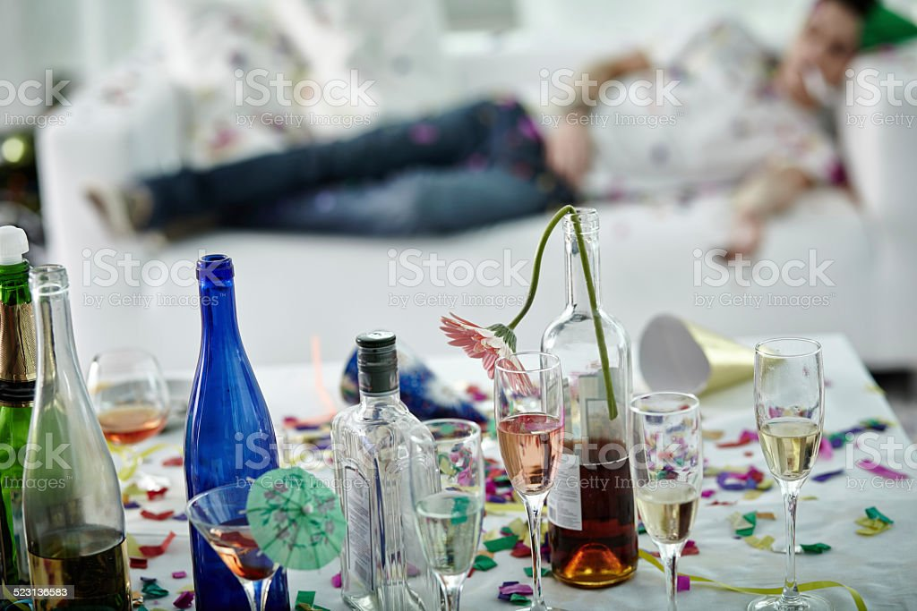morning after party stock photo