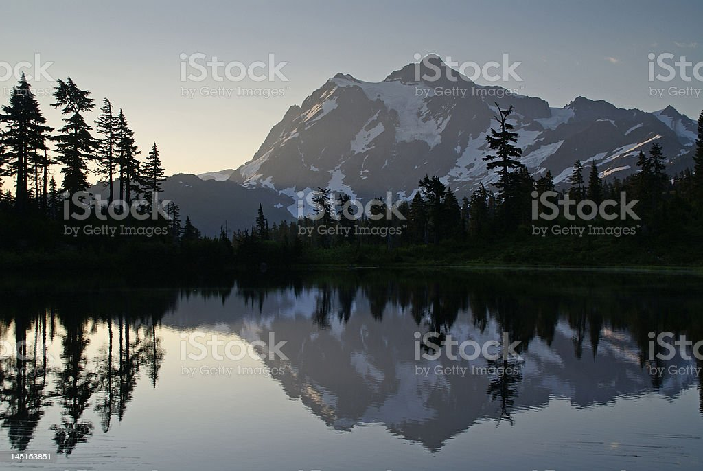 Morning and the Mountain royalty-free stock photo