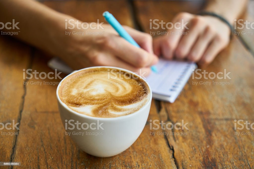 Morning and Working with Coffee foto stock royalty-free