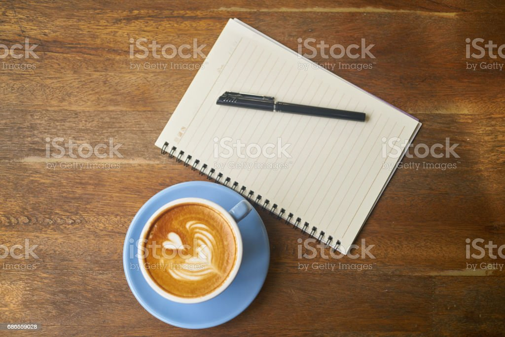Morning and Working with Coffee royalty-free stock photo